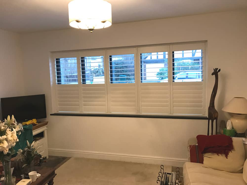 Shutters in sitting room in Sussex