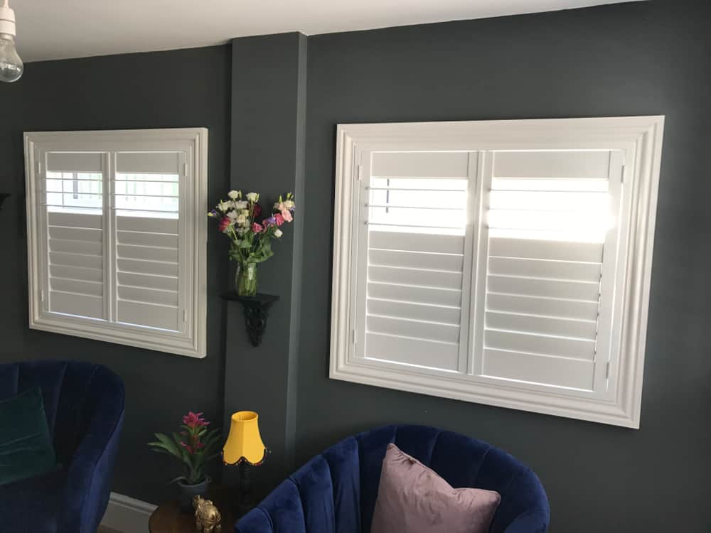 shutters in contemporary sitting room in brighton