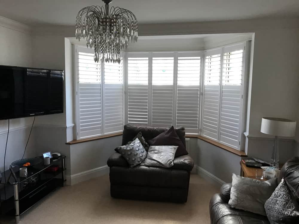 Shutters in the sitting room