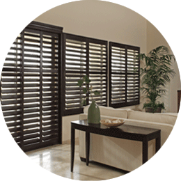 Chelsea Black hardwood plantation shutters
