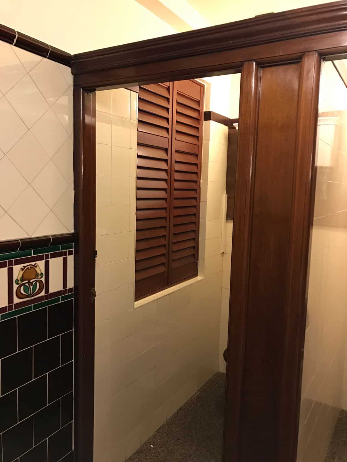 Wooden Window shutters at the Grand Hotel Brighton & Hove